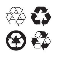 Recyclable, recycling logo