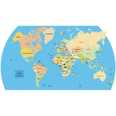 Accurate Vector World Map vector