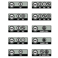 Creative Commons License vector free