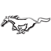 Mustang logo vector download free