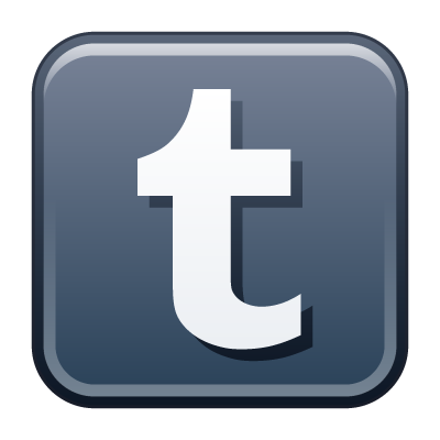 Tumblr icon vector, Tumblr button vector