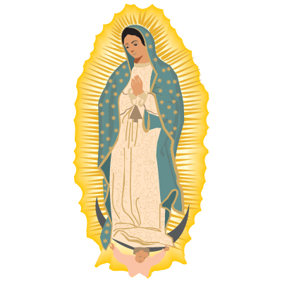Virgen de Guadalupe vector, Virgen de Guadalupe in .EPS