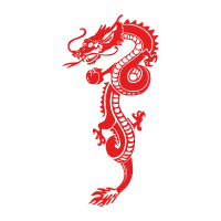 Red Dragon vector logo free download