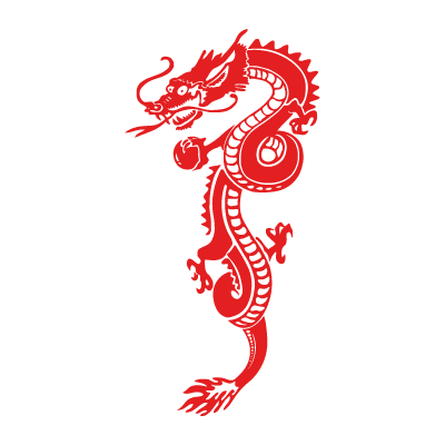 Red Dragon vector logo