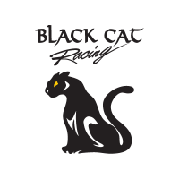 Black Cat Racing logo vector free