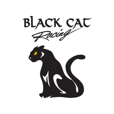 Black Cat Racing logo vector