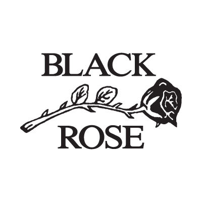 Black Rose Leather logo vector