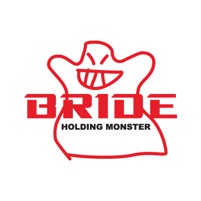 Bride Holding Monster logo vector