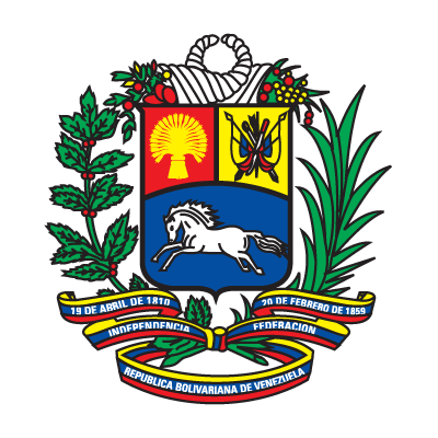 Coat of arms of Venezuela logo vector