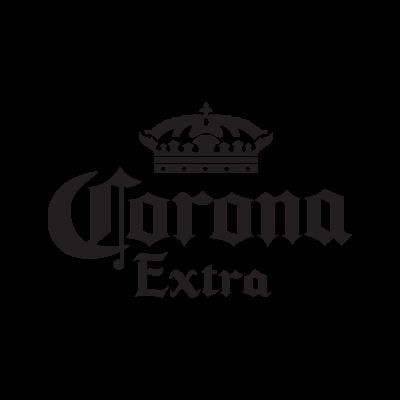 Corona Extra black logo vector