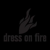 Dress on fire logo vector free