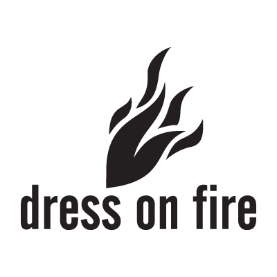 Dress on fire logo