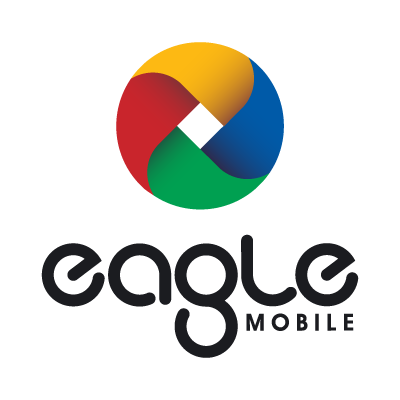Eagle mobile logo vector
