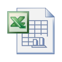 Excel office logo vector free