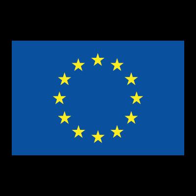 Flag of EU logo vector