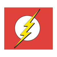 Flash logo superhero logo vector free