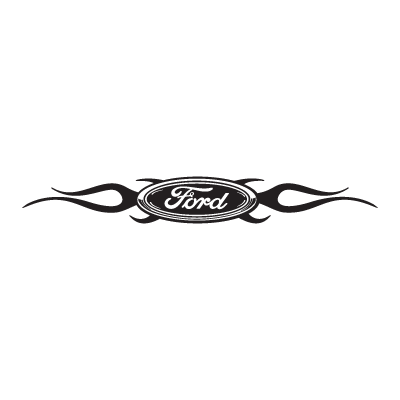 Ford Chisled With Flames logo vector