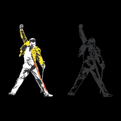 Freddie Mercury tribute logo vector