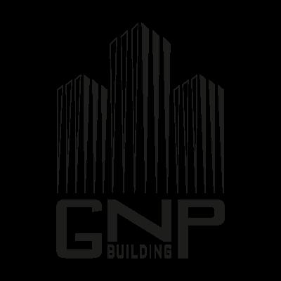 GNP building BW logo vector