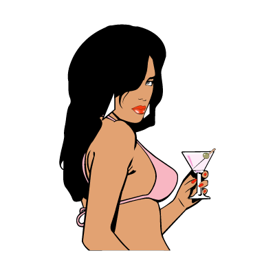 GTA Vice City Woman logo vector