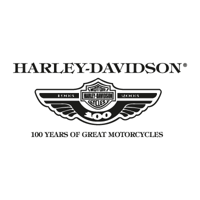 Harley Davidson 100 years vector logo