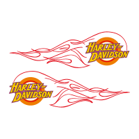 Harley-Davidson flame vector logo free download