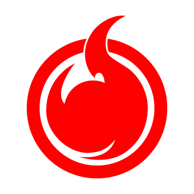 Hell Girl fire symbol vector logo
