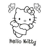 Hello Kitty black vector logo free download