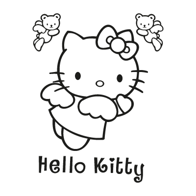 Hello Kitty black vector logo
