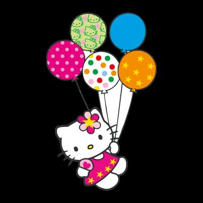 Hello Kitty con globitos logo