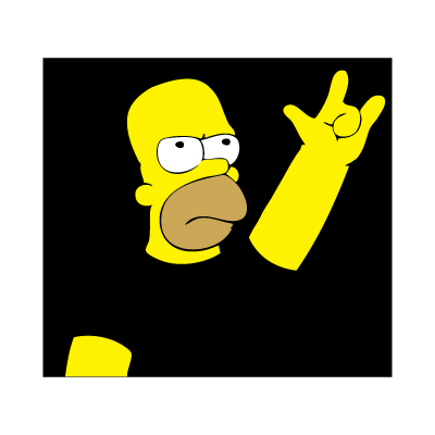 Homero metalero vector logo