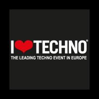 I Love Techno vector logo download free