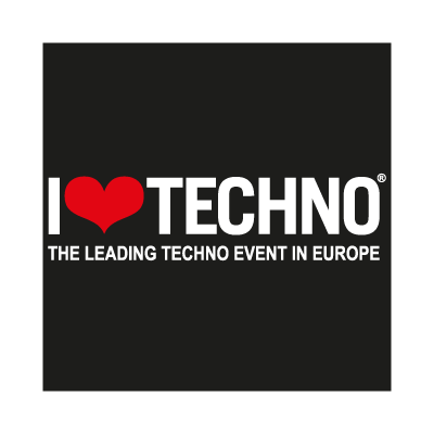 I Love Techno vector logo