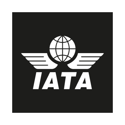 IATA black vector logo