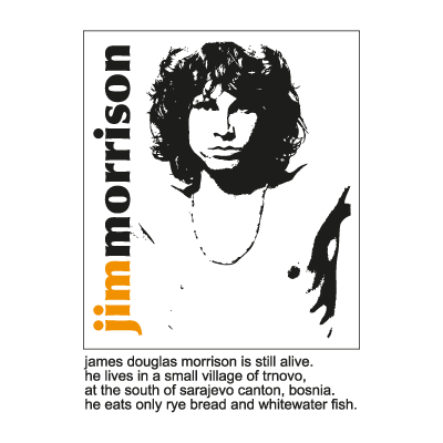 Jim Morrison - The Doors vector logo