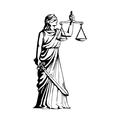 Justitia vector logo