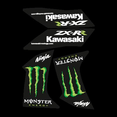 Kawasaki Ninja Monster ZX-RR vector logo