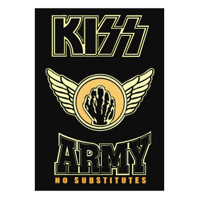 KISS Army Fist vector logo