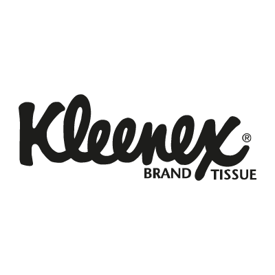 Kleenex black vector logo