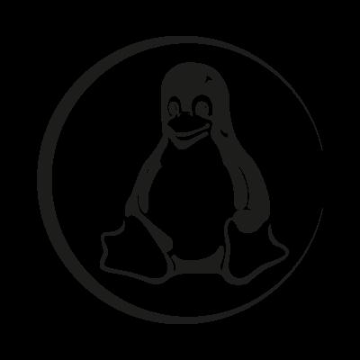 Linux Tux black vector logo