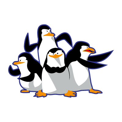 Madagascar pinguinos penguins vector
