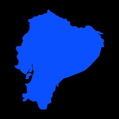 Mapa del ecuador logo