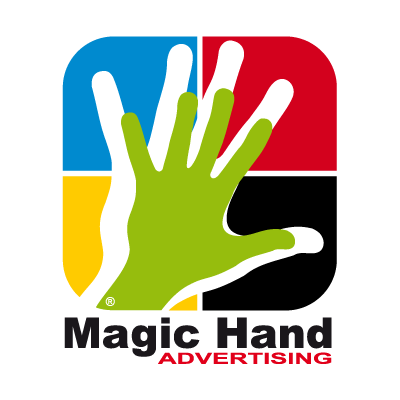Magic hand vector logo