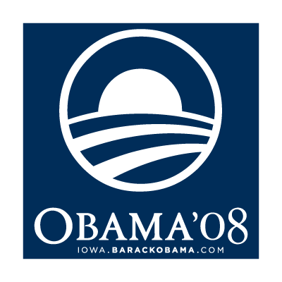 Obama 08 vector logo