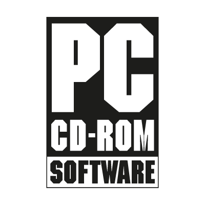 PC CD-ROM vector logo