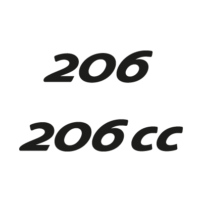 Peugeot 206 vector logo