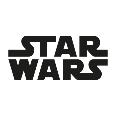 Star Wars film vector logo