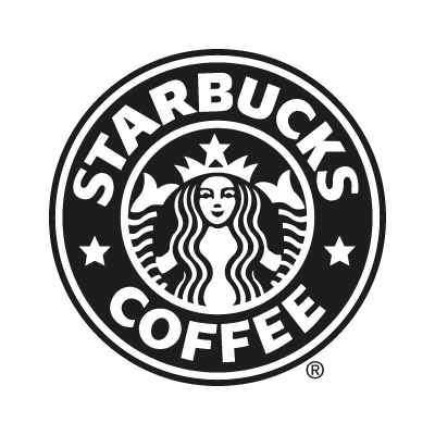 Starbucks Coffee black vector logo
