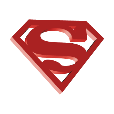 Superman 3D vector logo