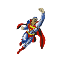 Superman flying vector logo free download